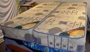 2 Single innerspring caravan mattresses hardly used Woodbury Yeppoon Area Preview