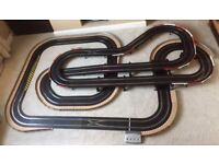 Scalextric Digital Layout with Treble Bridge / Large Flyovers & 4 Digital Cars