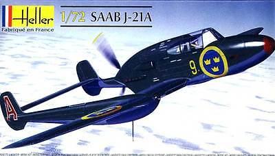 Heller Saab J-21A 21 a 4 Versions Model Kit 1:72 Tip Boxed Kit