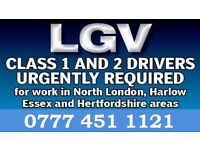 Driving Jobs Available - LGV Class 1 + 2 Drivers Needed Urgently