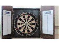 Unicorn DART equipment. Nearly new: Professional standard. Board, Cabinet. Flights. Wallet. Box.