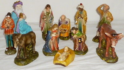 Old Krippefiguren Nativity Scene Figures Solid 14cm Christmas