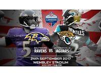 NFL Tickets - Ravens vs. Jaguars at Wembley!