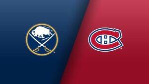 4 billets COLLÉS Canadiens de Montréal VS Sabres de Buffalo 8nov