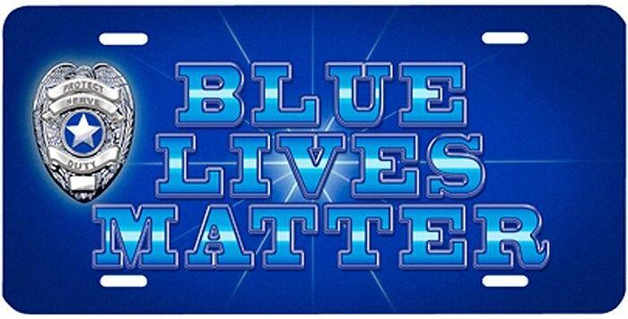 Blue Lives Matter Metal License Plate