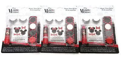 Lot Of 3 Disney Minnie Mouse Party Birthday Halloween Dress Up Makeup Kit - Halloween Mouse Makeup