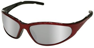 Elvex Xts Safety Glasses With Red Frame And Silver Mirror Lens Ansi Z87