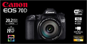 Canon 70d & EF24-105 L IS & Canon 50mm   $1950 Strathcona County Edmonton Area image 1