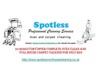 Oven cleaning carpet cleaning end of tenancy house cleans