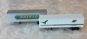 HO Scale Trailer Trucks Pair for Train Layouts