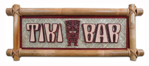 Hawaiian Bamboo Wall Sign Tiki Bar Hawaii Aloha Island Home Kitchen Decor NIB