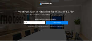 Private Space as Low as $5 per hour in Kitchener