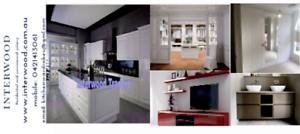 Kitchen renovation , CNC Cut to size service , Shop fitting