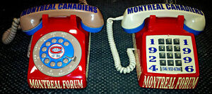CUSTOM DESIGNED VINTAGE MONTREAL CANADIENS ROTARY-PUSH BUTTON PH