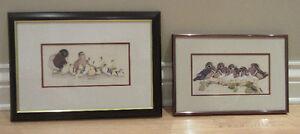 Cadres avec illustrations de canards