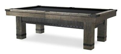 Plank   Hide Morse 8 Ft Billiards Pool Table   Barnwood Elm   Free Shipping