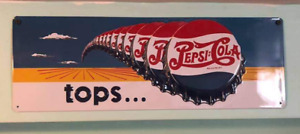 Tin Pepsi and Coca Cola sign