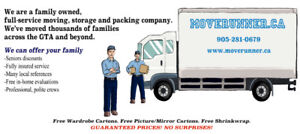 Family-owned moving company. Guaranteed prices - NO SURPRISES!