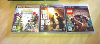 3 PS3 games- The Last of Us, Plants vs. Zombies, LEGO Pirates