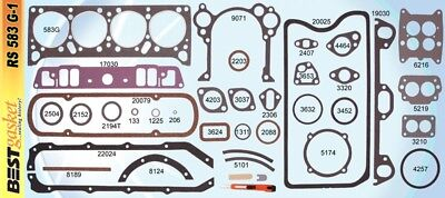 Pontiac/GMC 347 Full Engine Gasket Set/Kit BEST Head+Intake+Exhaust+Oil Pan 1957