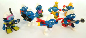 Smurf Figurines - Vintage Lot of  8 For a Great Deal!