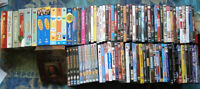 500+blu-ray, dvds-vhs-video games for sale 3$-10$