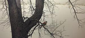 Robert Bateman - Winter Elm American Kestrel