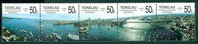 Tokelau Scott #150 MNH STRIP SYDPEX '88 Stamp EXPO CV$10+