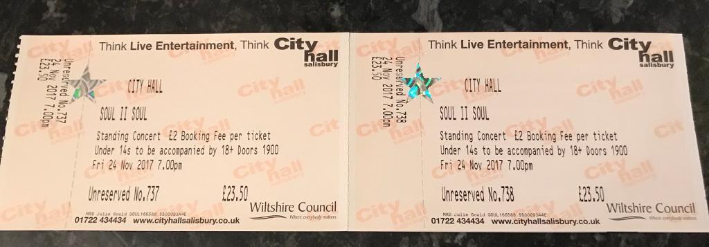 Tickets to see Soul to Soul in Salisbury 24/11/17