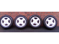 ford fiesta zetec alloy rims with 4 new tyres
