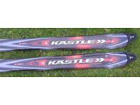 2 Sets of Carver Skis: Ceramic 7.8 Performance K2 and Kastle C09 Carve Skis.