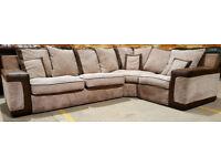 Corner Sofa - Beige/Brown. Can deliver