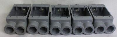 Carlon E979 Non-metallic 1-gang Fscc Electrical Weatherproof Box Lot Of 5