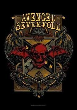 AVENGED SEVENFOLD Heavy Metal Band DEATH CREST Music Fabric POSTER BANNER FLAG