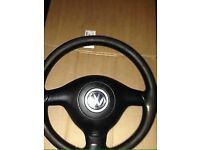 Bora golf 3 spoke sport steering wheel with airbag