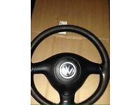 Bora, Golf sport steering wheel.