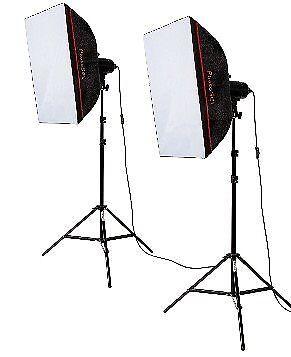 Studio Lighting Kit - PhotoSEL LS21E52 Softbox Kit
