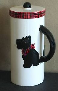Black Scottish Terrier Dog Tall Mug with Lid