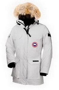 Women Expedition Parka Rice White Canada Goose