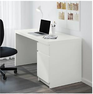 IKEA WHITE MALM DESK