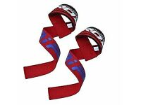 RDX Weighlifting straps lifting straps gym- red, blue, black