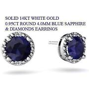 Sapphire Diamond Earrings White Gold
