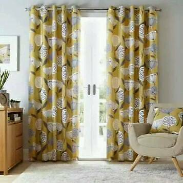 Dunelm Curtains 90x90 Eyelet Yellow Amp Grey Cushions To