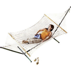 2-Pc. Rope Hammock with Stand, New