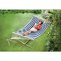 Striped Hammock with Stand, New
