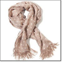 Brand new, Mark polka dot neutral scarf