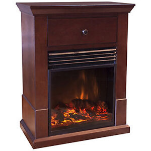 Easton Compact Electric Fireplace Heater, New