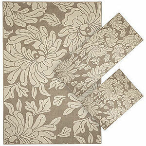 Everyday Beige Floral 3-Pc. Rug Set, New