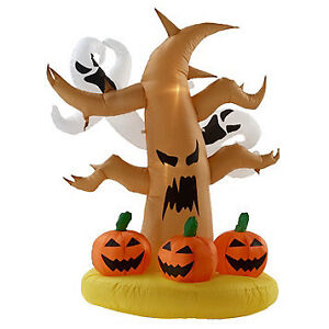 4' Inflatable Spooky Tree, New