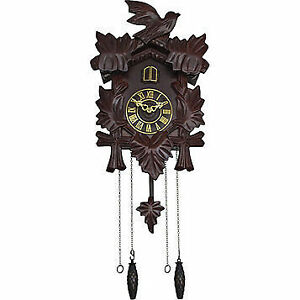 Pendulum Cuckoo Wall Clock - Walnut, New